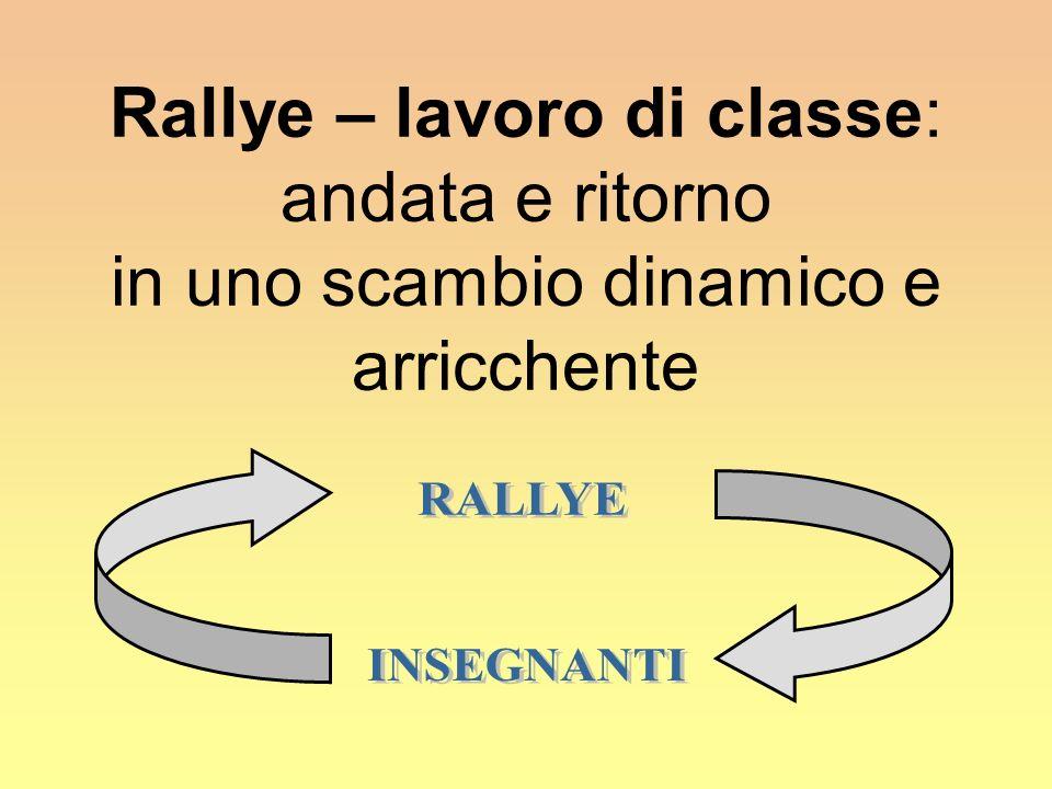 Rallye – lavoro di classe: andata e ritorno in uno scambio dinamico e arricchente