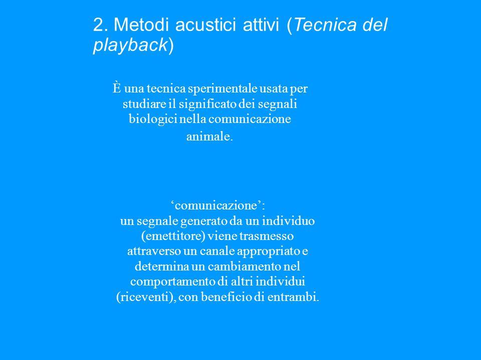 2. Metodi acustici attivi (Tecnica del playback)