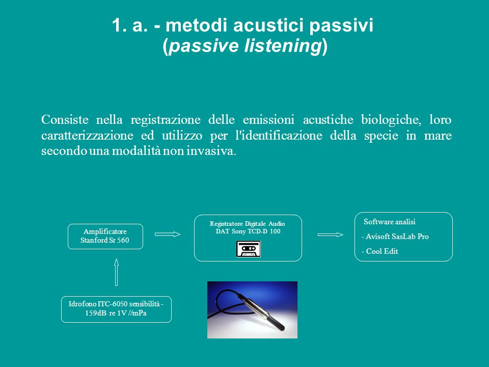 1. a. - metodi acustici passivi