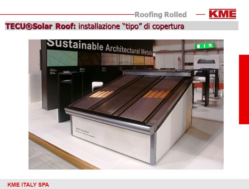 TECU®Solar Roof: installazione tipo di copertura
