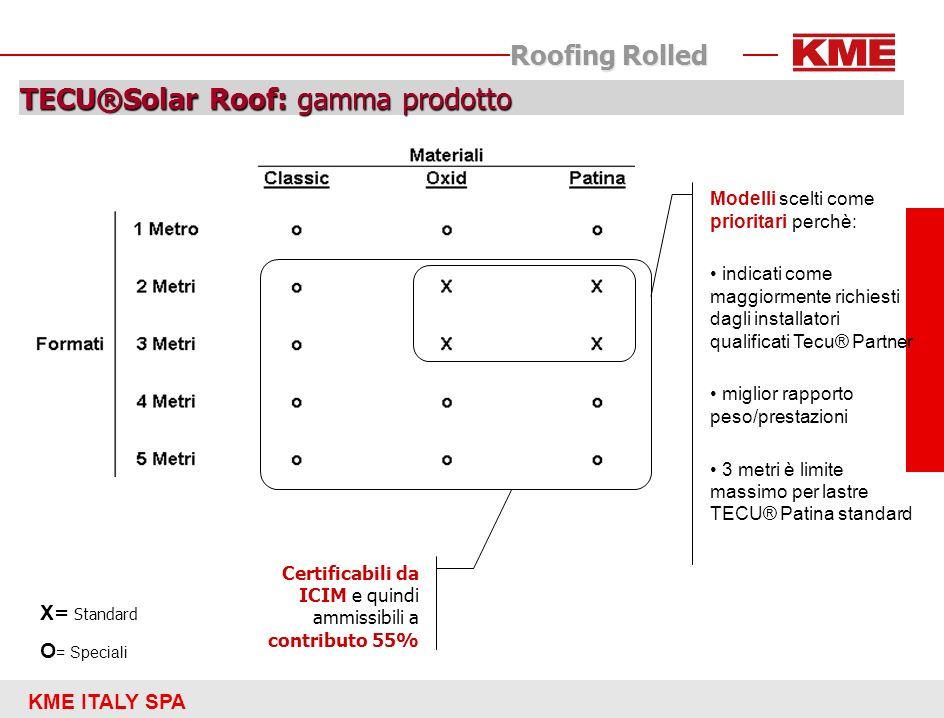 TECU®Solar Roof: gamma prodotto