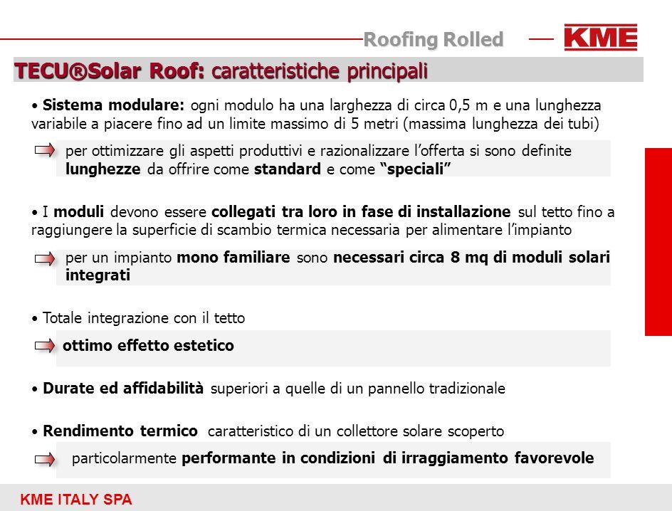 TECU®Solar Roof: caratteristiche principali