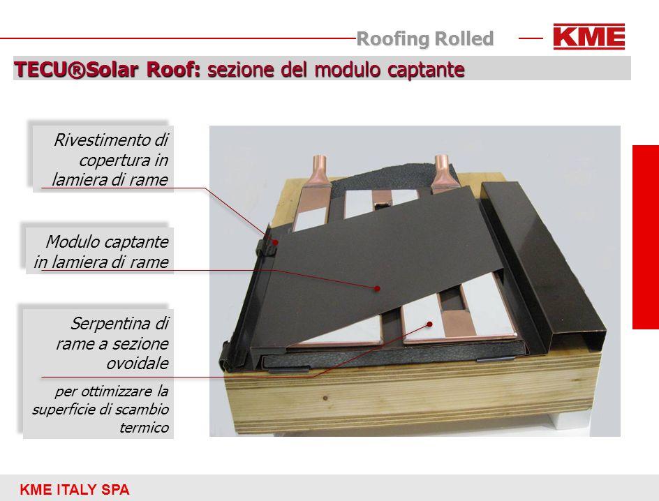 TECU®Solar Roof: sezione del modulo captante