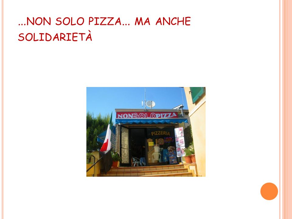 …non solo pizza… ma anche solidarietà