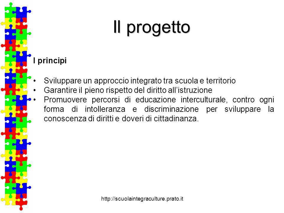 Il progetto I principi. Sviluppare un approccio integrato tra scuola e territorio. Garantire il pieno rispetto del diritto all'istruzione.