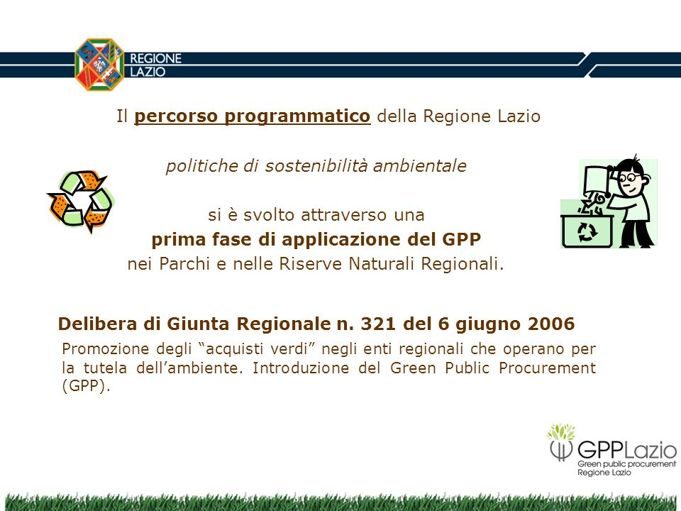 Delibera di Giunta Regionale n. 321 del 6 giugno 2006