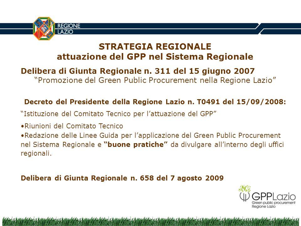 Decreto del Presidente della Regione Lazio n. T0491 del 15/09/2008: