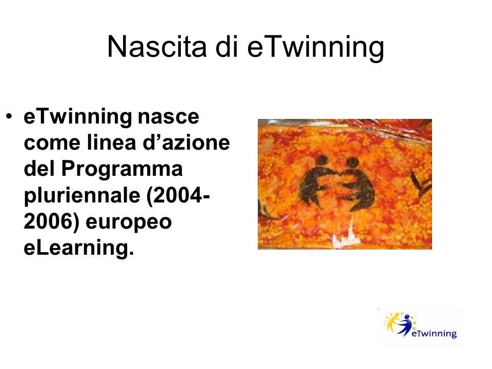 Nascita di eTwinning eTwinning nasce come linea d'azione del Programma pluriennale (2004-2006) europeo eLearning.