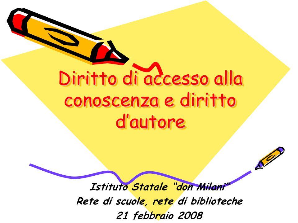 Diritto di accesso alla conoscenza e diritto d'autore