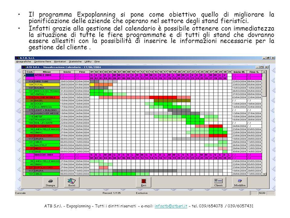 Il programma Expoplanning si pone come obiettivo quello di migliorare la pianificazione delle aziende che operano nel settore degli stand fieristici.