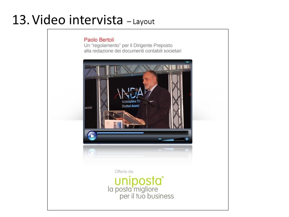 Video intervista – Layout