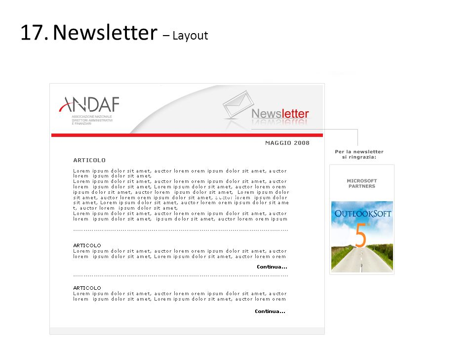 Newsletter – Layout