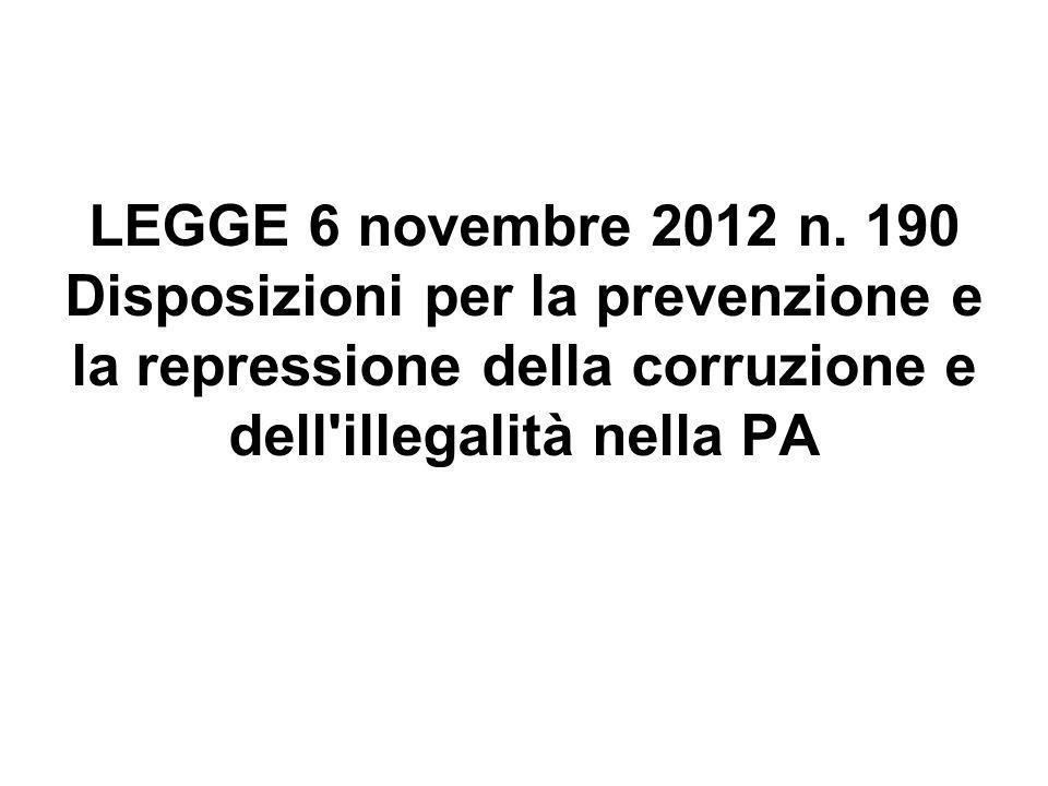 LEGGE 6 novembre 2012 n.