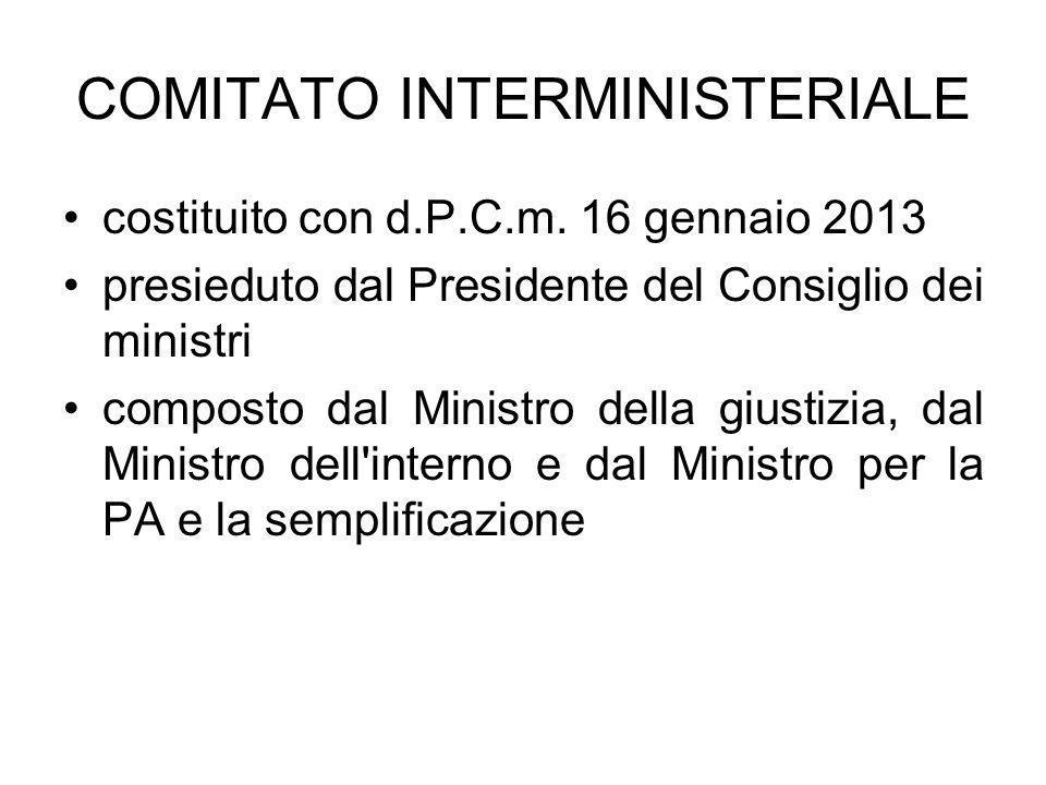 COMITATO INTERMINISTERIALE