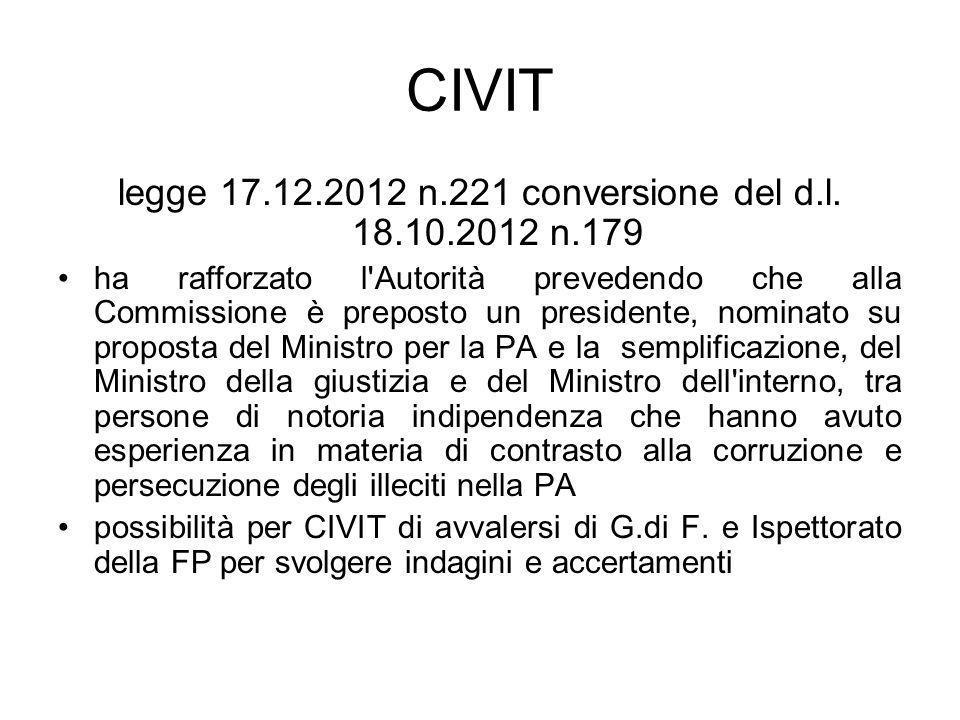 legge 17.12.2012 n.221 conversione del d.l. 18.10.2012 n.179