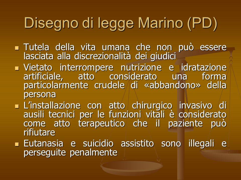 Disegno di legge Marino (PD)