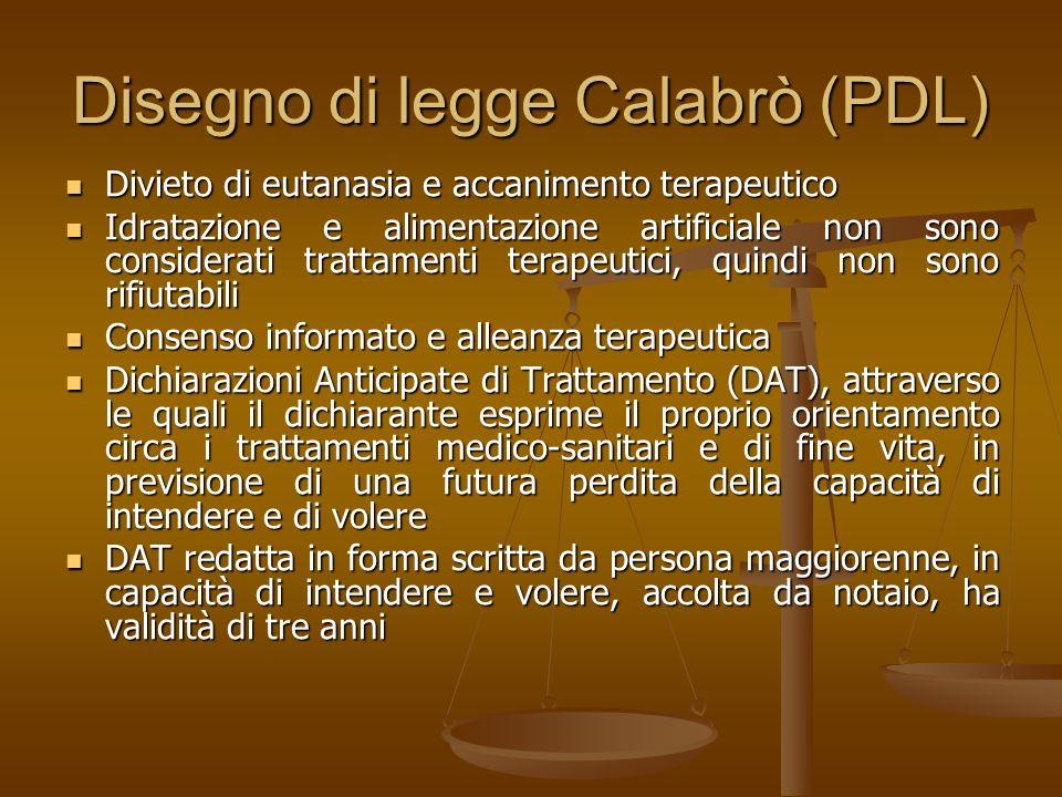 Disegno di legge Calabrò (PDL)