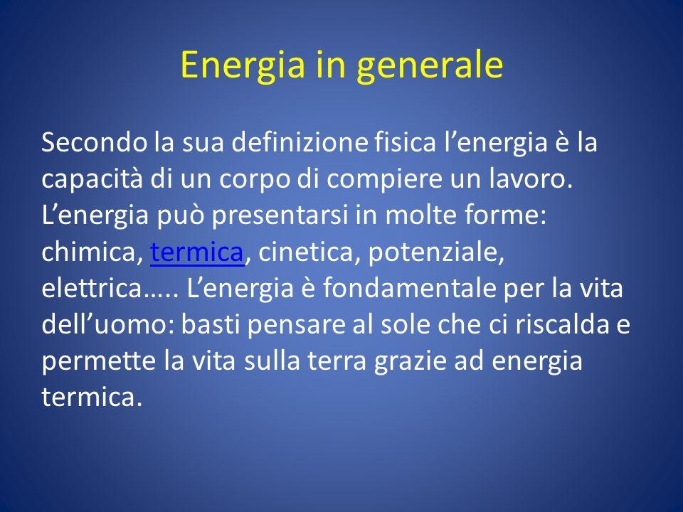 Energia in generale