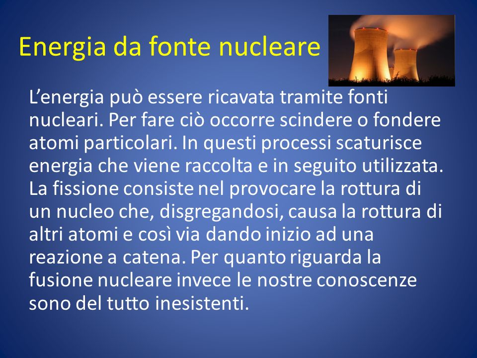 Energia da fonte nucleare