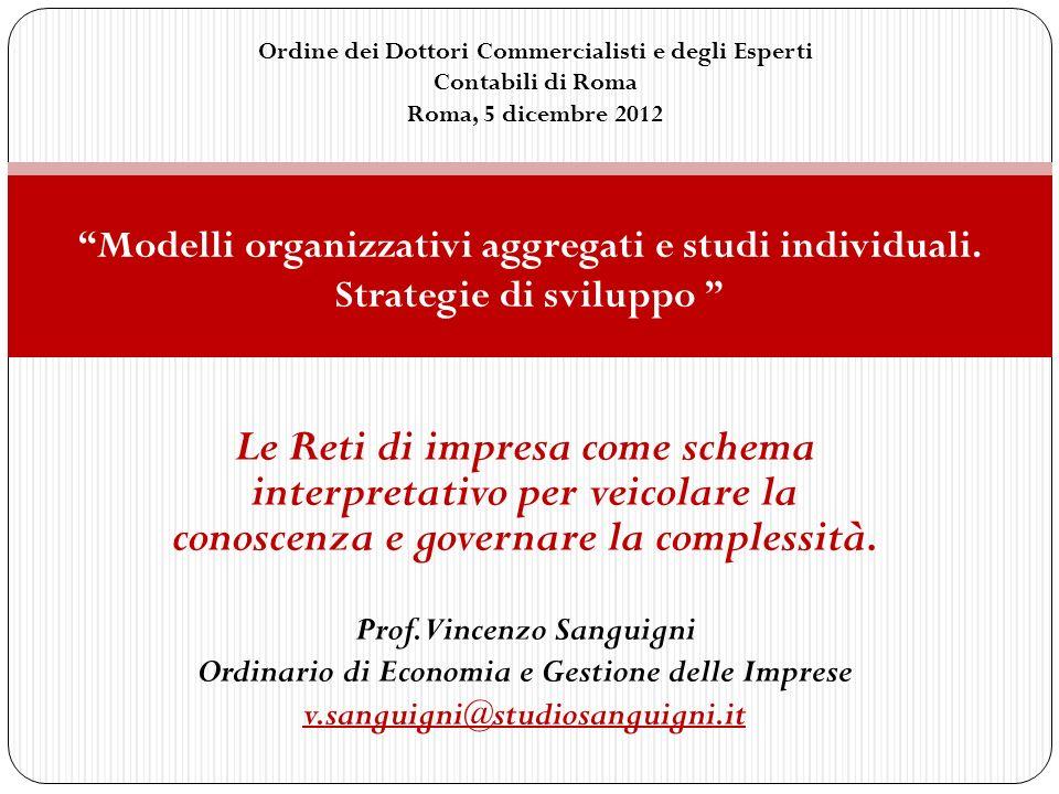 Prof.Vincenzo Sanguigni Ordinario di Economia e Gestione delle Imprese