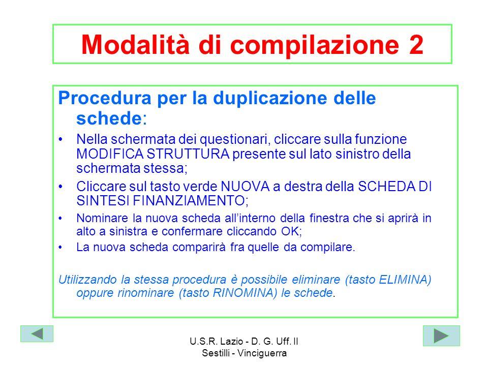 Modalità di compilazione 2