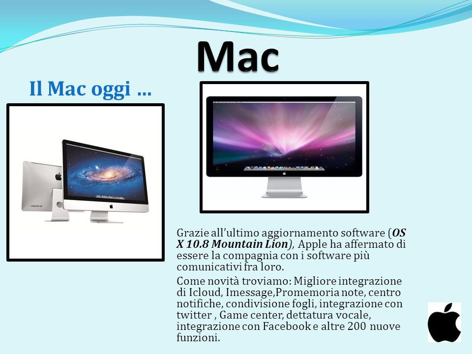 Mac Il Mac oggi …