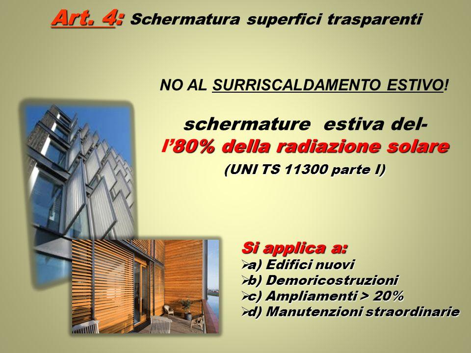 Art. 4: Schermatura superfici trasparenti
