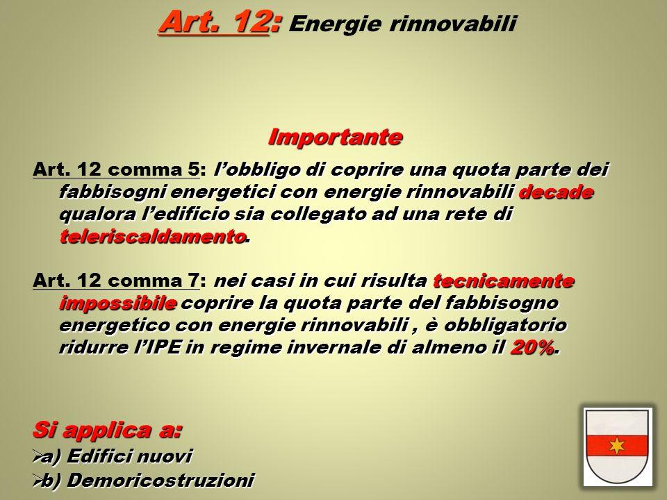 Art. 12: Energie rinnovabili