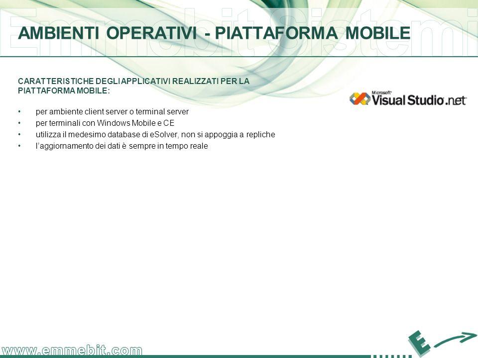 AMBIENTI OPERATIVI - PIATTAFORMA MOBILE