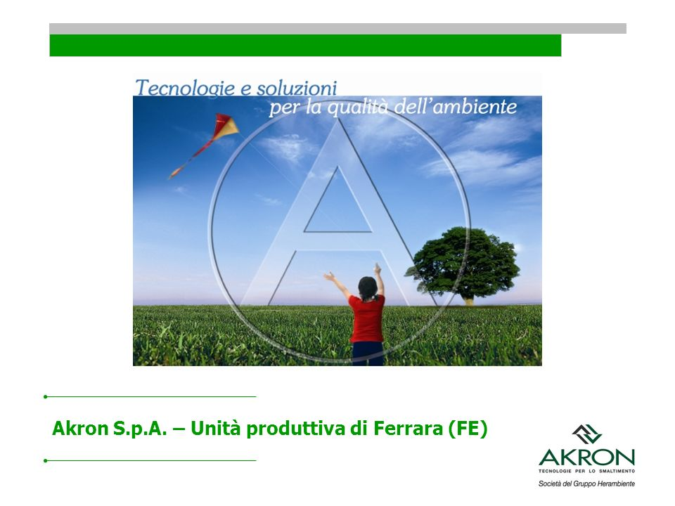 Akron S.p.A. – Unità produttiva di Ferrara (FE)