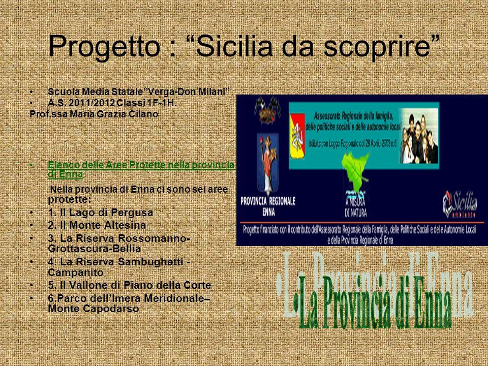 Progetto : Sicilia da scoprire