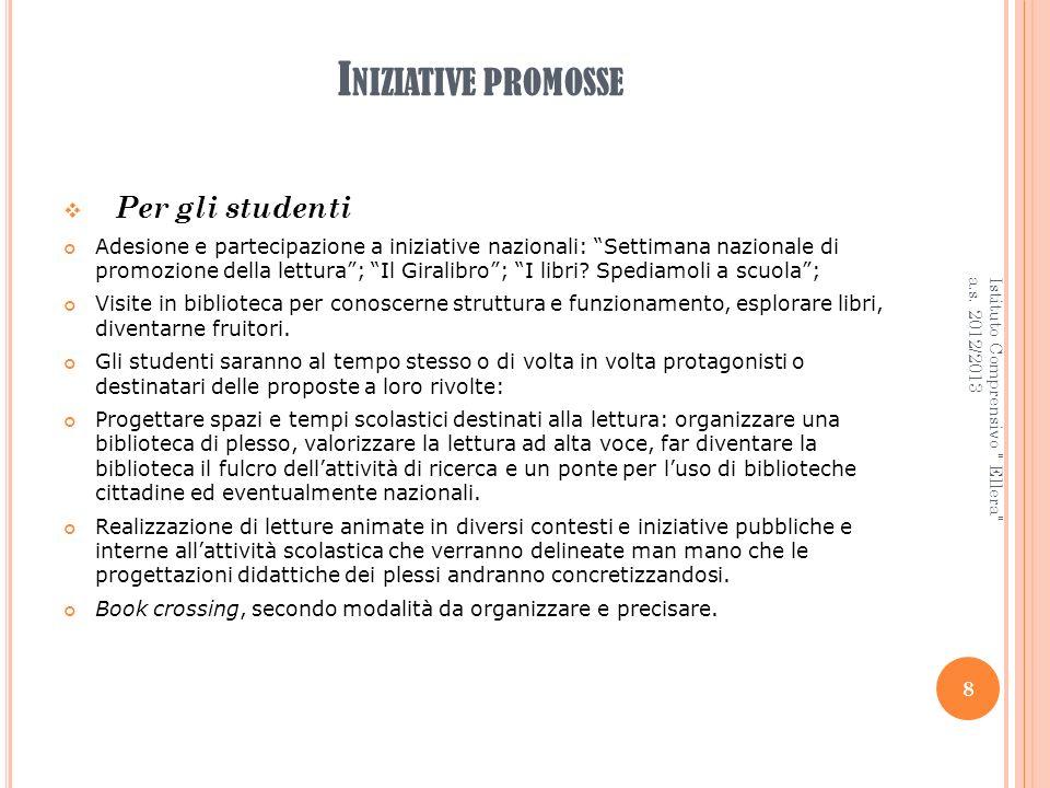 Iniziative promosse Per gli studenti