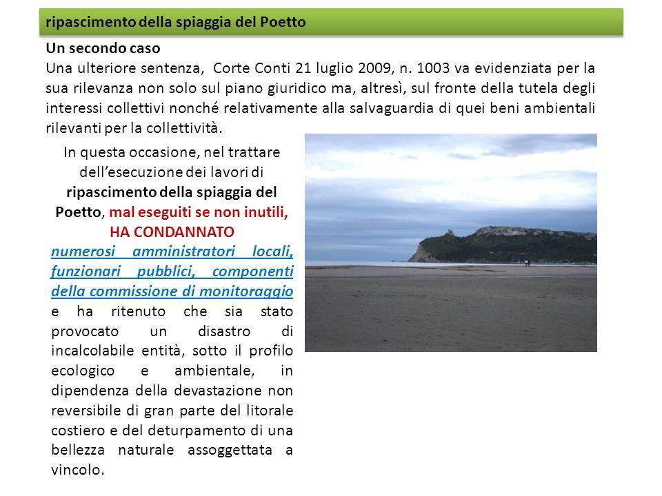ripascimento della spiaggia del Poetto