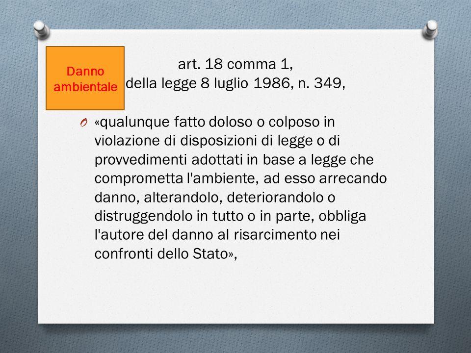art. 18 comma 1, della legge 8 luglio 1986, n. 349,