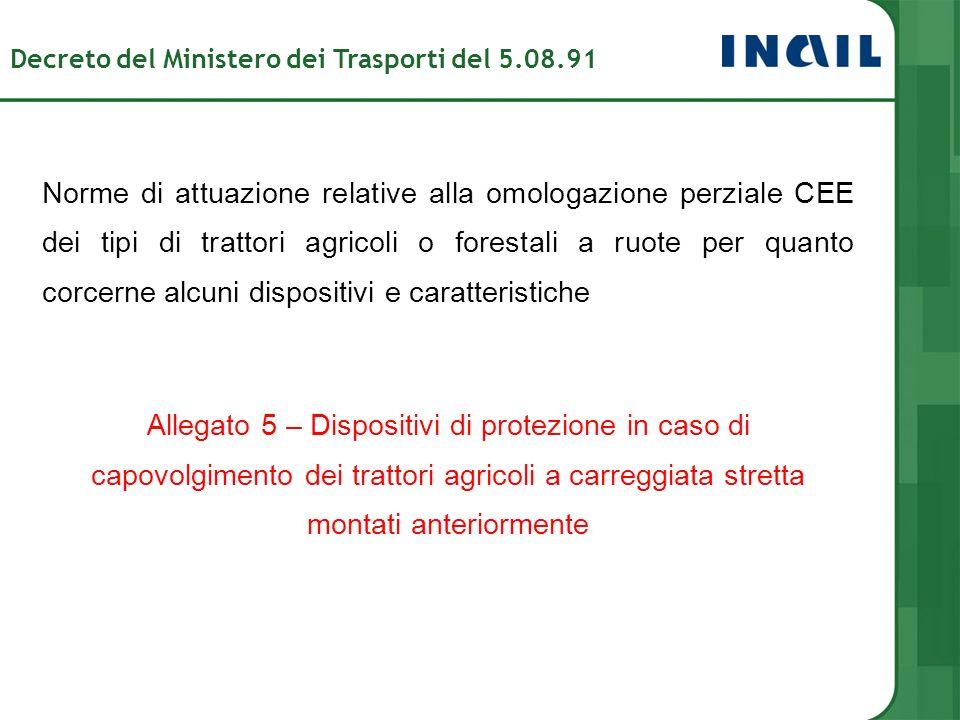 Decreto del Ministero dei Trasporti del 5.08.91