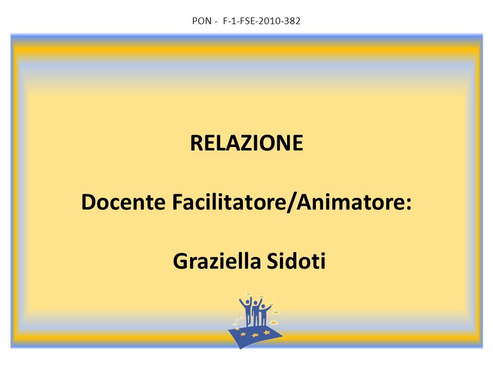 RELAZIONE Docente Facilitatore/Animatore: Graziella Sidoti