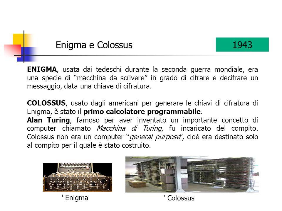 Enigma e Colossus 1943.