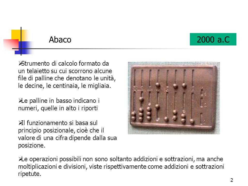 Abaco 2000 a.C.