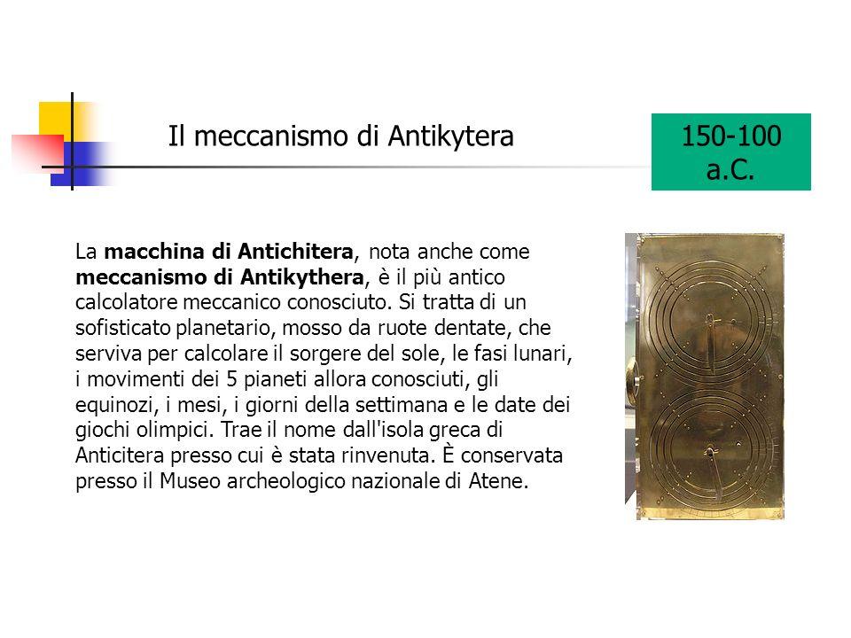 Il meccanismo di Antikytera 150-100 a.C.