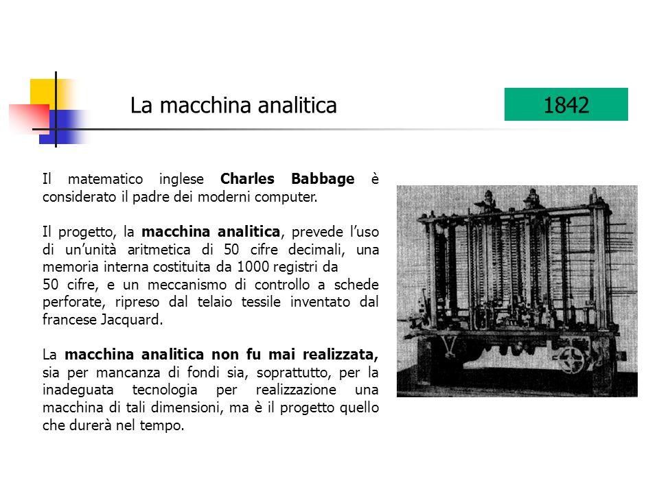 La macchina analitica 1842. Il matematico inglese Charles Babbage è considerato il padre dei moderni computer.