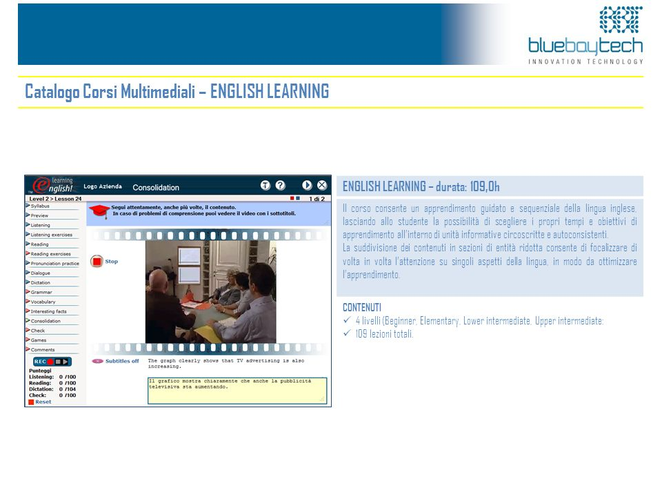 Catalogo Corsi Multimediali – ENGLISH LEARNING