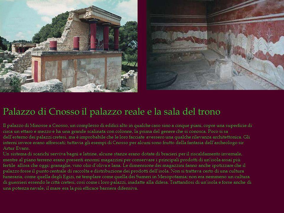 Palazzo di Cnosso il palazzo reale e la sala del trono