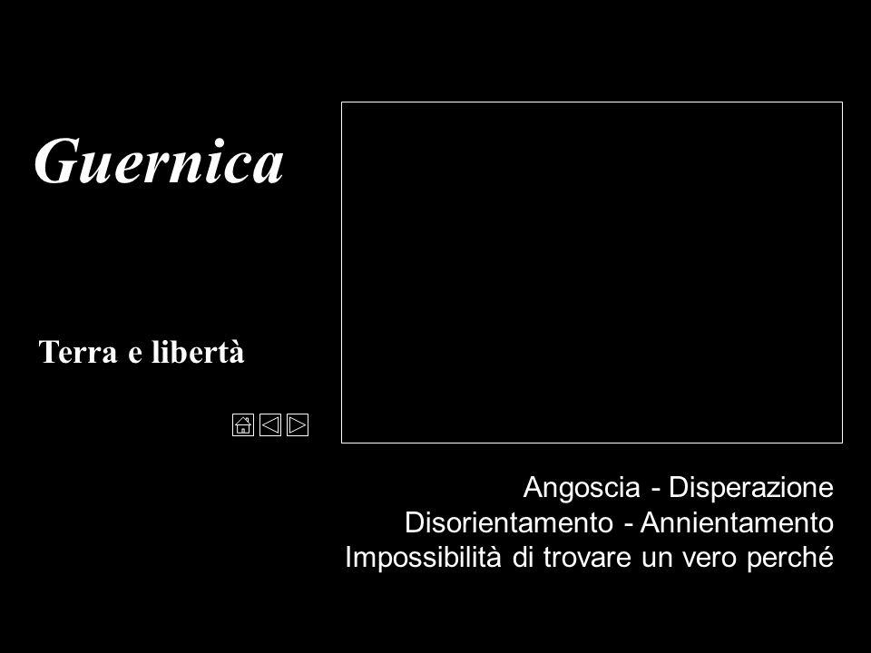 Guernica Terra e libertà Angoscia - Disperazione