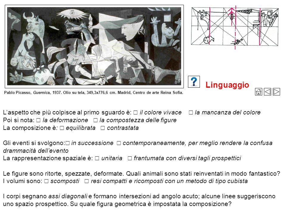 Pablo Picasso, Guernica, 1937. Olio su tela, 349,3x776,6 cm