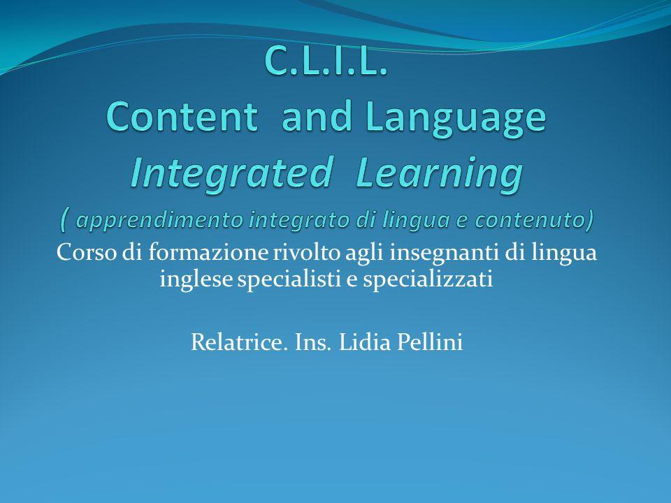 Relatrice. Ins. Lidia Pellini