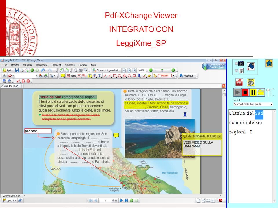 Pdf-XChange Viewer INTEGRATO CON LeggiXme_SP