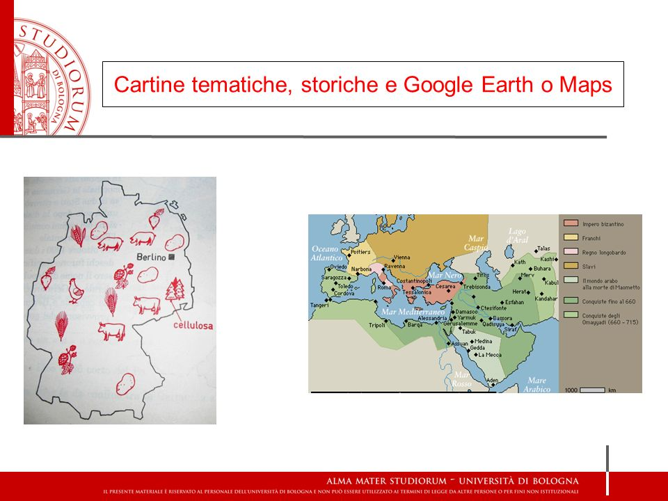 Cartine tematiche, storiche e Google Earth o Maps