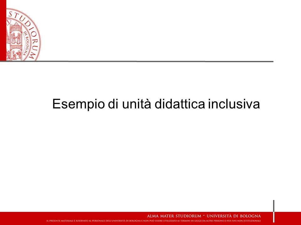 Esempio di unità didattica inclusiva