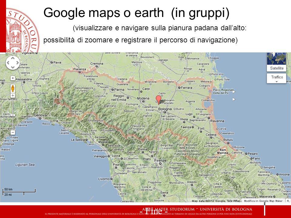 (visualizzare e navigare sulla pianura padana dall'alto: