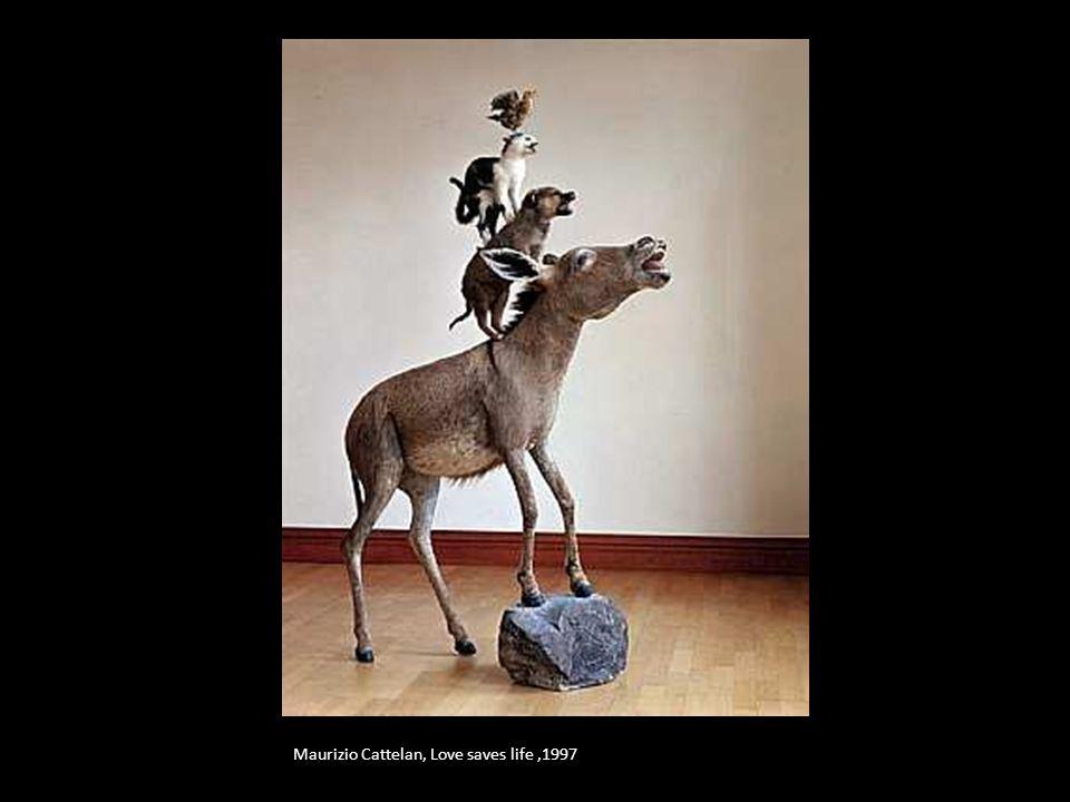 Maurizio Cattelan, Love saves life ,1997